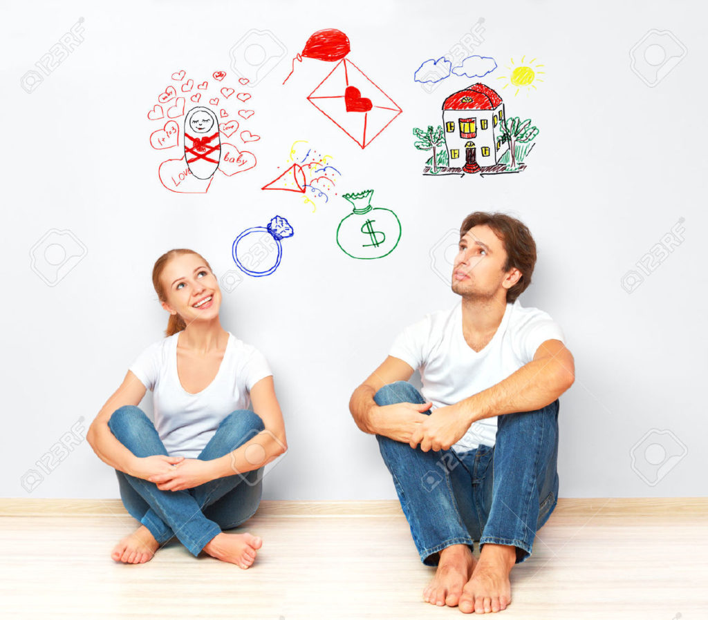 35114988-concept-young-happy-family-couple-dreaming-of-new-house-child--Stock-Photo